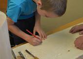 Práce se dřevem - nakreslení vzoru
