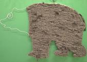 Výsledek společného tkaní - Mostecký medvěd